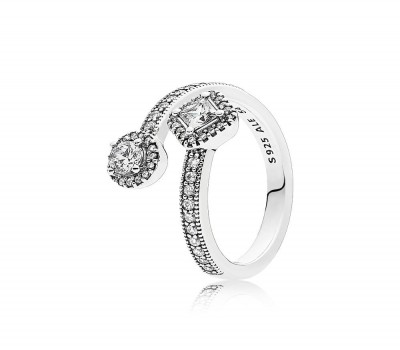 Abstract Elegance Ring, Clear CZ