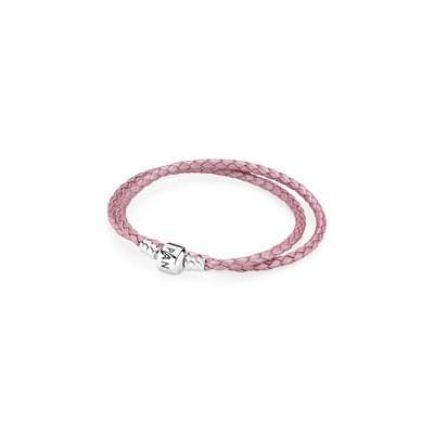 Pandora Pink Double Leather Bracelet
