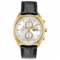 Mens Gold Tone Chrono Watch