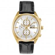 Mens Gold Tone Chrono Watch