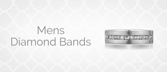 Mens Diamond Bands