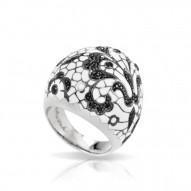 Fleur De Lace White Ring