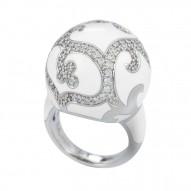 Royale Ball White Ring