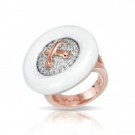 Button White Ring