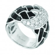 Treccia Black Ring