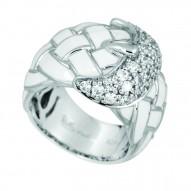 Treccia White Ring