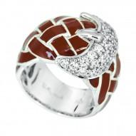 Treccia Brown Ring