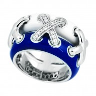 Maille Blue Ring