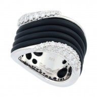 Wave Black Ring