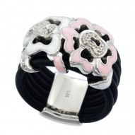 Fiori Pink/Black Ring