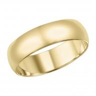 Goldman Comfort Fit Wedding Band 5mm, 14k Yellow Gold