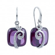 Vigne Amethyst Earrings