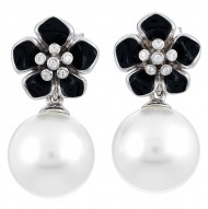 Snowdrop Black Earrings