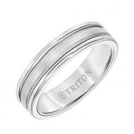 Triton  White Tungsten Carbide (Primary)/14Kw Insert Step Edge Band - Sz 10