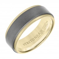 Triton Raw 18Ky Primary/Tungsten Carbide 8MM Band - Sz 10