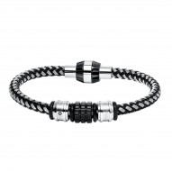 Stainless Steel Corded/Bead Brac With 1 Dia=0.02 Ct