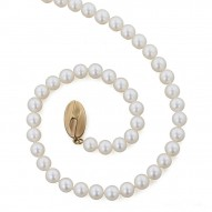 """14K 5+MM White Freshwater Cultured Pearl 18"""" Necklace"""