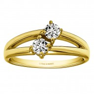 FA218 - Diamond Two Stone Ring