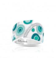 Groovy White & Aqua Ring