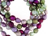 "Set of Five 8-9mm Grapevine Baroque Fresh Water Cultured Pearl Stretch Bracelets, 7.5"""