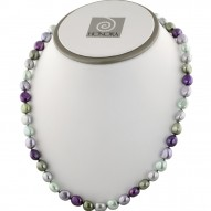 """Sterling Silver 8-9mm Grapevine Baroque Fresh Water Cultured Pearl Necklace, 18"""""""