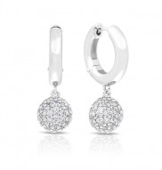 Lunetta White Earrings
