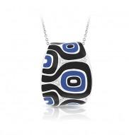 Moda Blue & Black Pendant