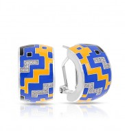 Pixel Blue & Yellow Earrings