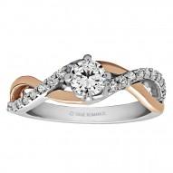 Round Cut Halo Diamond Infinity Engagement Ring