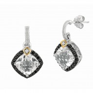 """0.44Ct. Diamond Crystal Quartz 18Kt Yellow Gold Sterling Silver Rock Candy Earring. Next Generation Of """"Rock Candy"""" Collection."""