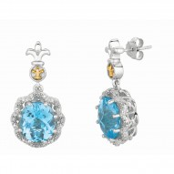 """0.08Ct Diamond 18Kt Yellow Gold Sterling Silver Rock Candy Drop Earring. Next Generation Of """"Rock Candy"""" Collection."""
