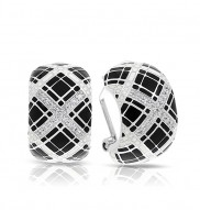 Tartan Black & Ivory Earrings