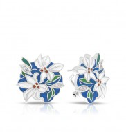 Tiger Lily Blue Earrings
