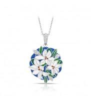 Tiger Lily Blue Pendant