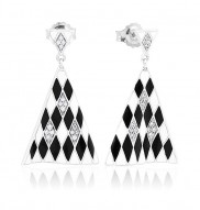 Tivoli Black & White Earrings