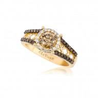 YPVR 280 14k Honey Gold™ Ring with Chocolate Diamondsand Vanilla Diamondsand