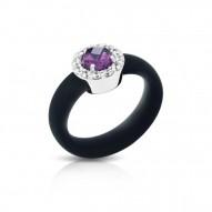 Diana Black/Amethyst Ring