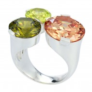 Tres Chic Champagne Ring