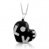 Love Black Pendant