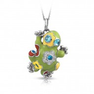 Lucky Frog Green Pendant