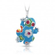 Lucky Frog Turquoise Pendant
