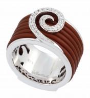 Swirl Brown Ring