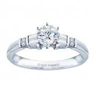 Me244-14k White Gold Classic Engagement Ring