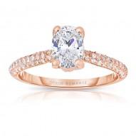 Rm1280vrs-14k White Gold Oval Cut Diamond Engagement Ring