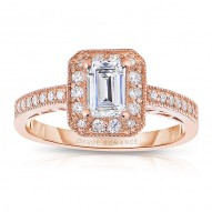 Rm1318ers-14k White Gold Engagement Ring From The Pink About It Collection