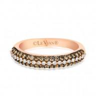YPVR 254 14k Strawberry GoldRing with Chocolate Diamondsand Vanilla Diamonds
