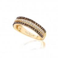 YPVR 75 14k Honey Gold™ Ring with Chocolate Diamondsand Vanilla Diamondsand
