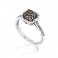 YPWL 112 14k Vanilla GoldFramed Clusters™ Ring with Chocolate Diamondsand Vanilla Diamonds