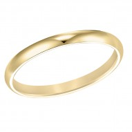 Goldman Comfort Fit Wedding Band 2mm, 14k Yellow Gold