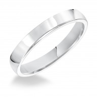 Goldman Comfort Fit Wedding Band 3mm, 14k White Gold